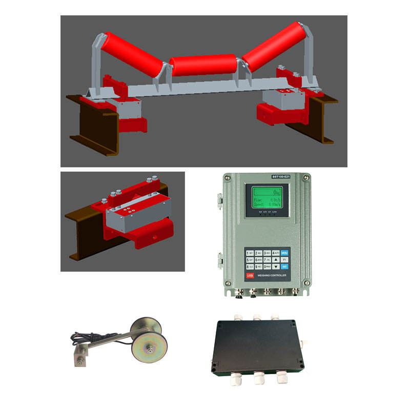 Whole Set of Belt Conveyor Weighing System, Belt Weighing Indicator+Speed Sensor+Signal Transmitter Summing Box+Roller