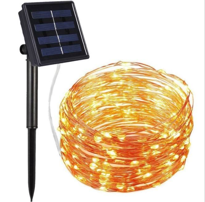 2020 Hot Sale fireworks lamp Warm White 33ft 100 LED Outdoor Waterproof Decorative holiday Solar LED Garden String Lights