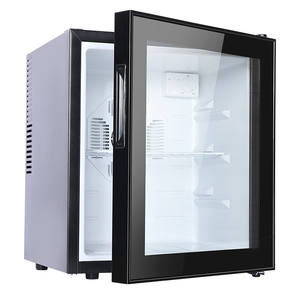 60L Bar Fridge Glass Display Cabinet Minibar Fridge Freezer Small Refrigerator