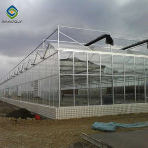 Sainpoly cheap agriculture multi-span glass greenhouse hydroponic greenhouse