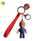 Packaging Customization Toy Keychain Hot Sale 3 Dimensional Animal Key Chain Super Mario Bros Toy Pvc Rubber Keychain