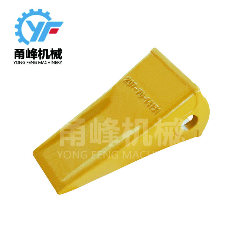 Heavy equipment bucket teeth and adapters for mini excavator and wheel loader