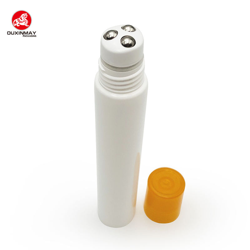 plastic squeeze soft touch tube with roller ball applicator for Body massage