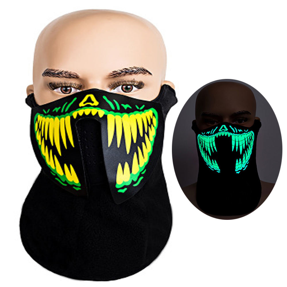 Hot selling EL Mask ,EL Halloween Mask For Party,Blacklight Run,Advertisement,DJ,Club,Christmas