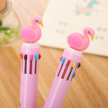 Creative ten colors ball pen cute cartoon graffiti press ballpoint pen wholesale