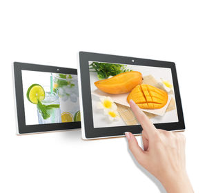 Smart Intelligent Control Touch Screen 10.1 inch Android Digital Signage with poe power for restaurant menu