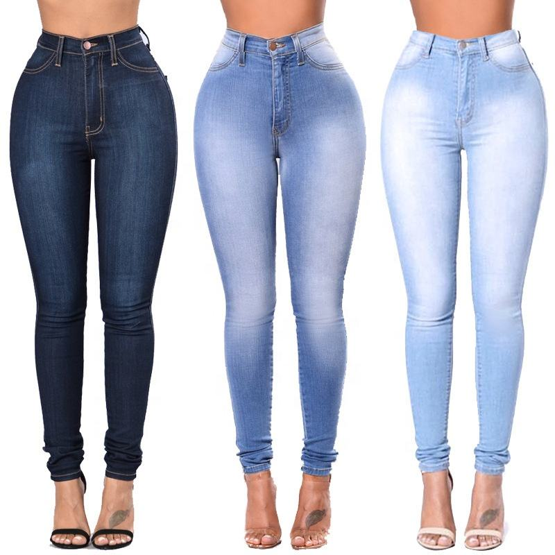 classic basic denim clothing leggings trousers pants sexy pantalones skinny high waist jeans women