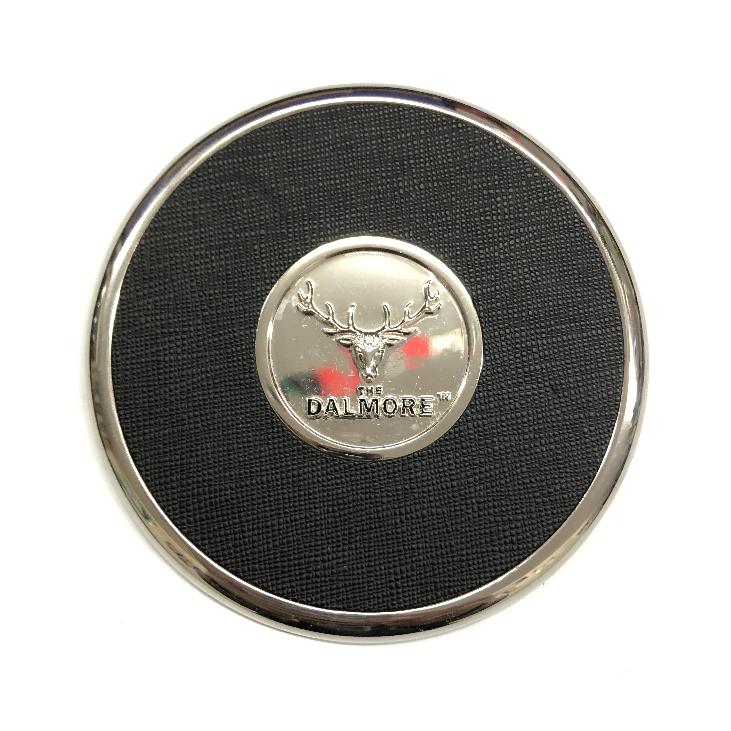Ronde Coaster Set Aangepaste Branded Cup Mat Metalen Lederen Drinken Coaster Plaat