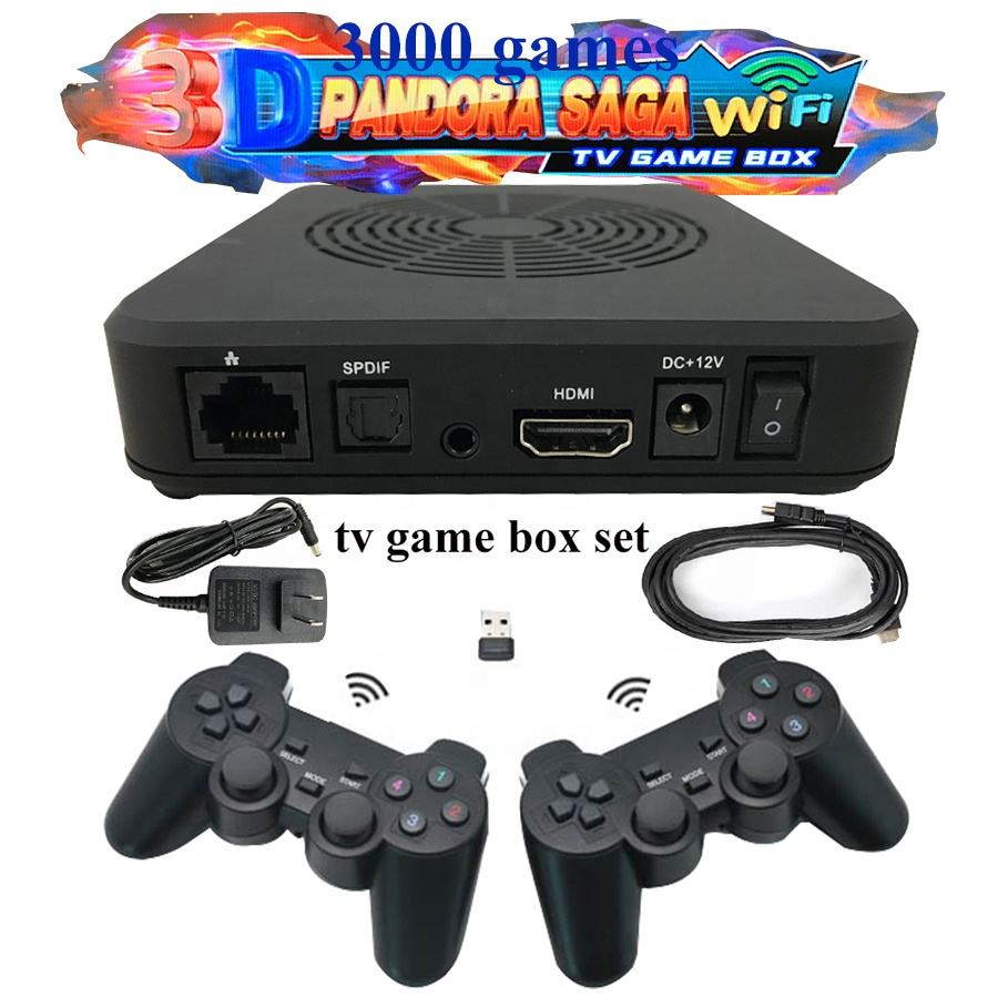 saga 3d game 3000 in 1 2 player sticker gamepad set pandoras box wireless arcade control set