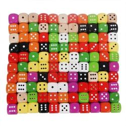 custom colored Entertainment Party Family game set Kid Toys wooden round corner dice