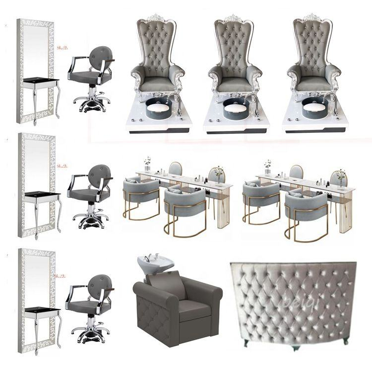 Hotsale woman salon furniture grey manicure pedicure spa chair manufacturer in GuangZhou China
