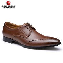 Fashion red brown military officer ceremony men leather shoes