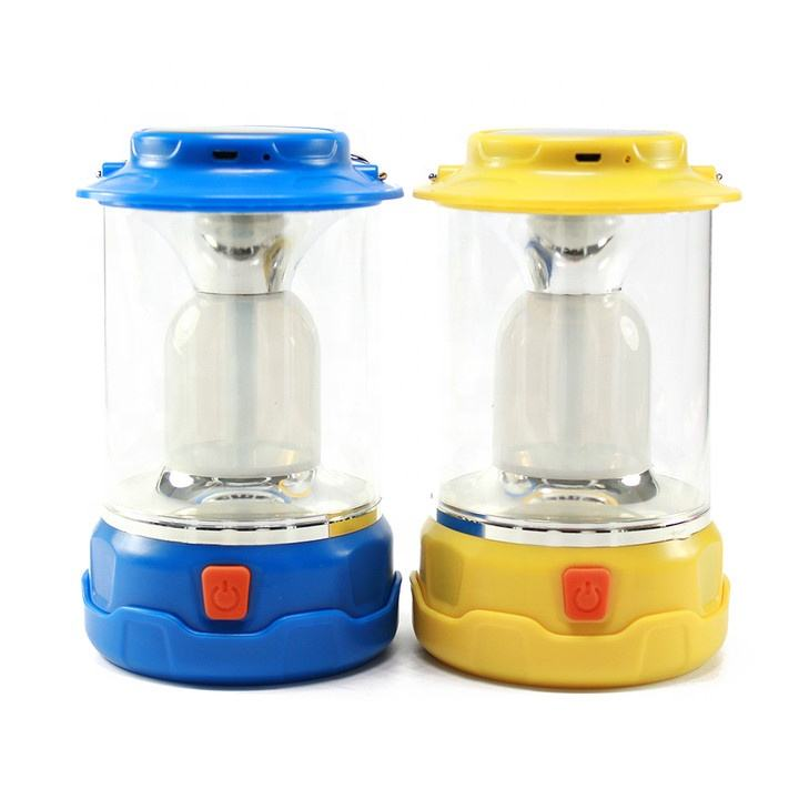 Ip44 [ Lamp Rechargeable ] Micro Input Usb Output Camping Solar Lamp Small Plastic Multifunction LED Lamp Battery Solar Power COB Rechargeable Led Camping Lantern