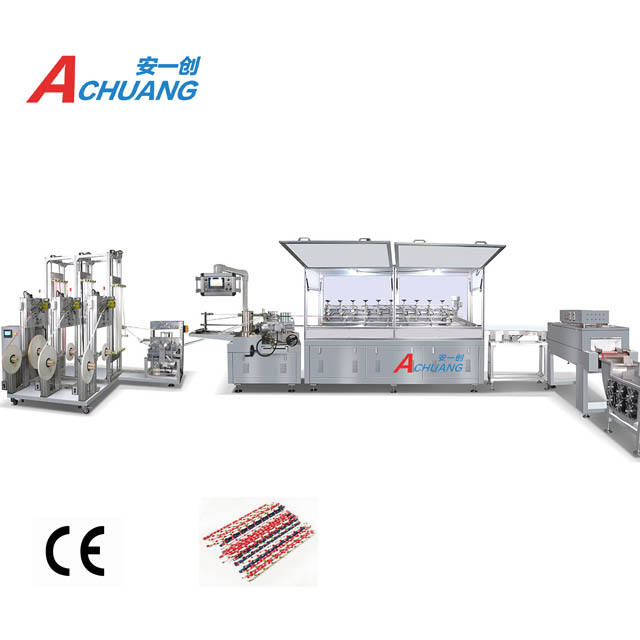Automatic rotative knives colorful Paper Drinking Straw Making Machine Equipment with auto paper connection
