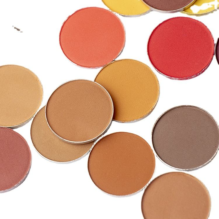 Wholesale Vegan High Pigment No Logo Sombras Glitter Matte Colorful Neon Single Eyeshadow