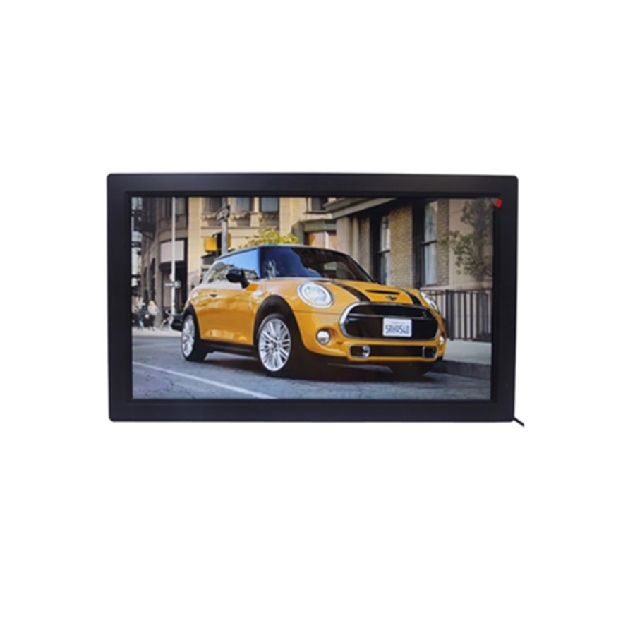 HD LCD LED big screen multifunction video music photo 19'' inch digital acrylic displayer