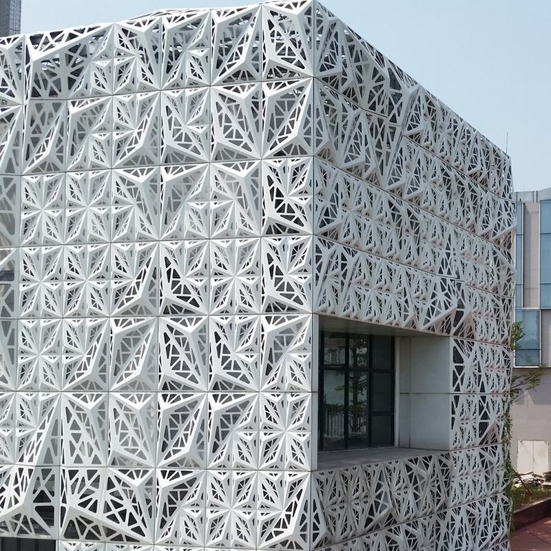 Wholesale Decorative Cladding Aluminium 3D Perforated Facade Metal Wall Panel