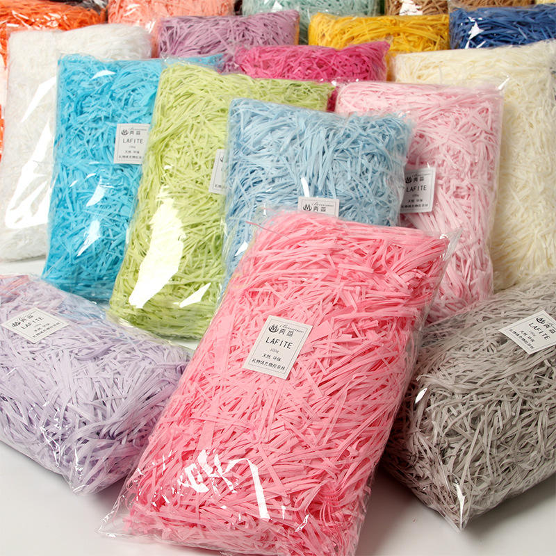 100g/Bag Recycled Packaging Kraft Packing Filler Crinkle Cut Crinkle Shredded Paper