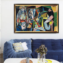 Pablo Picasso Famous Painting on Canvas Les Femmes d' Alger Oil Art Painting Living Decor