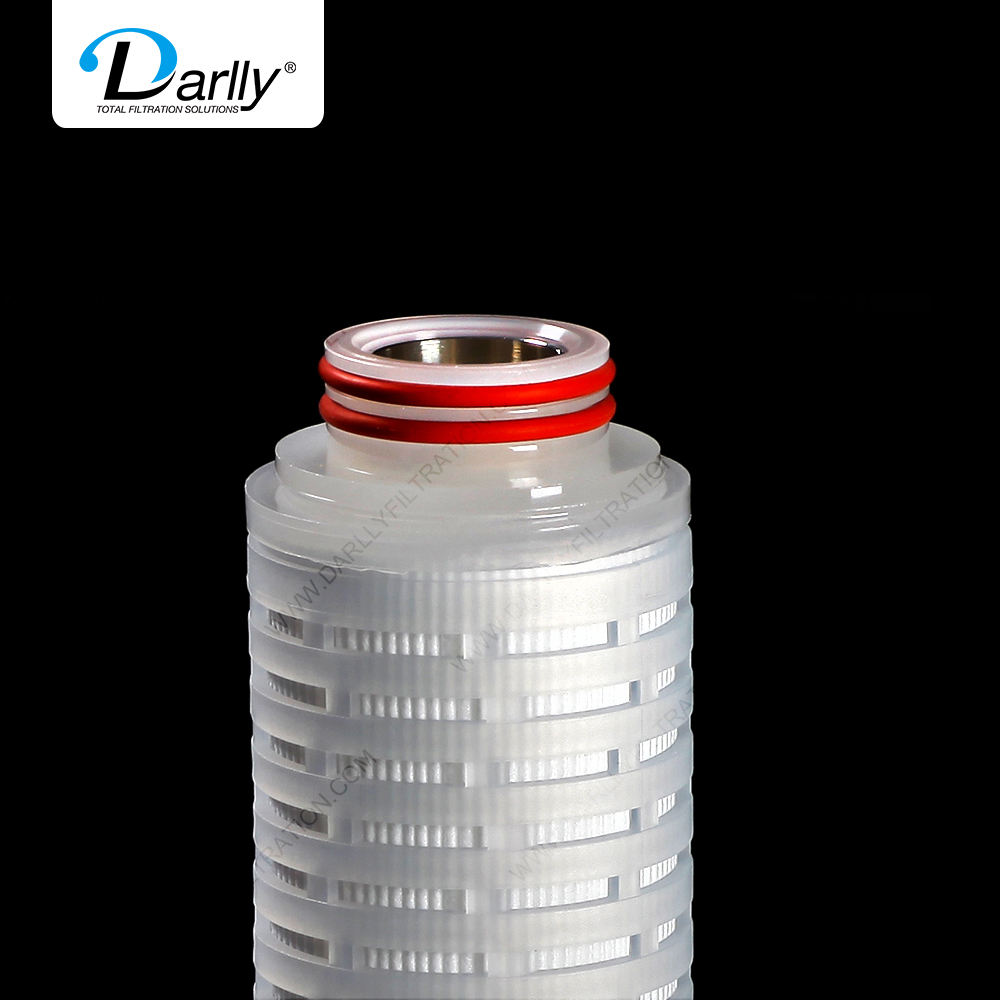 Darlly 0.22um Single layer Hydrophilic PVDF filter cartridge for Sterile APIs eyedrops Iyophilized powder vaccine serum