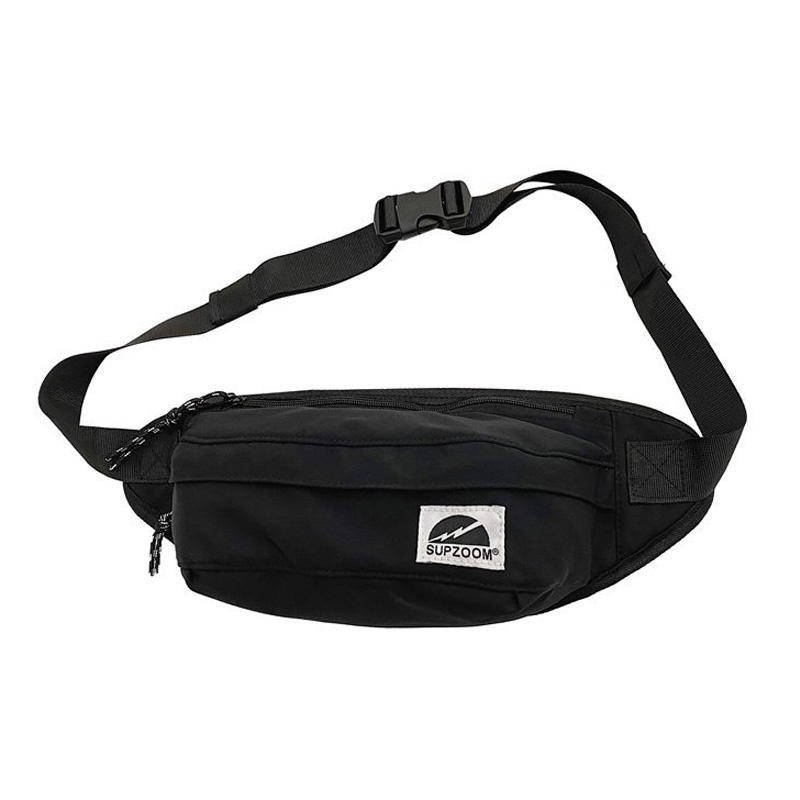 High quality unisex waterproof waist bags Black men nylon fanny pack waist bags custom logo