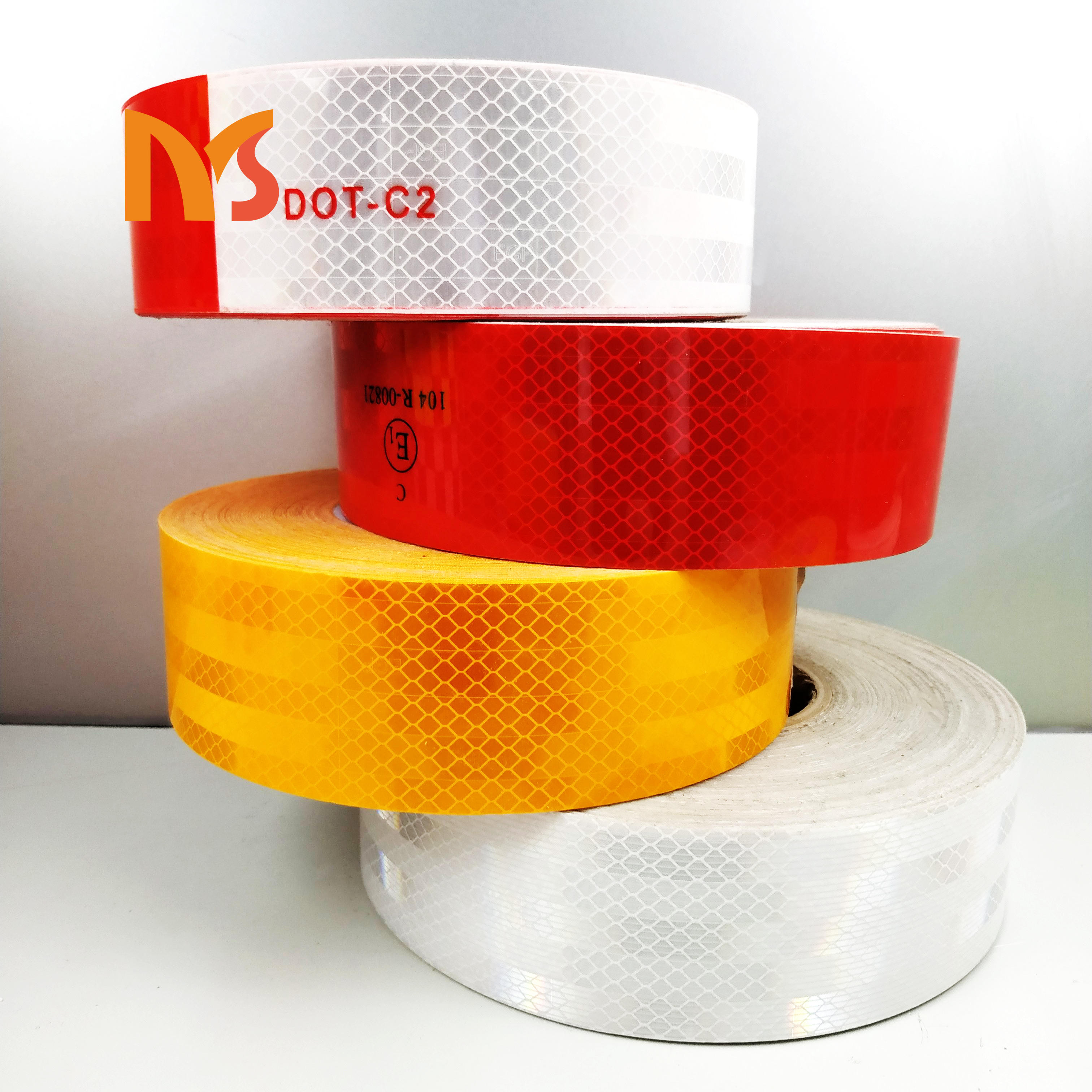 Best quality high visibility reflective rubber strip reflector tape for safety