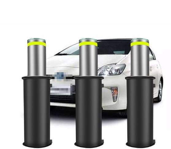 Retractable stainless steel remote control parking bollard/automatic hydraulic rising bollard