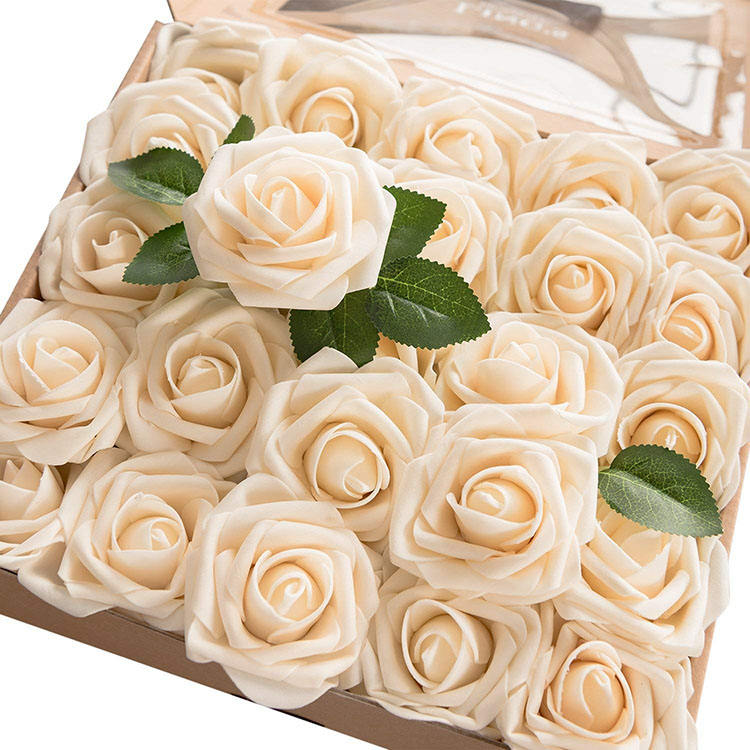 Nicro Hot Sale Diy Fake Rose Bounquets Artificial Flowers Home Party Wedding Decoration