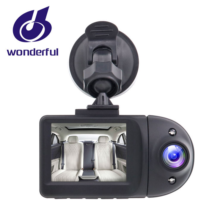 New design dashcam dual 1080p Sony sensor 2 cameras in one body car dvr better use in Uber Taxi Bus drivers