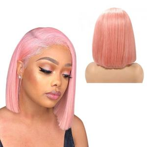 Human Hair Full Lace Frontal Wigs Vendors,Wholesale Bob Pink Human Hair Ombre Wigs