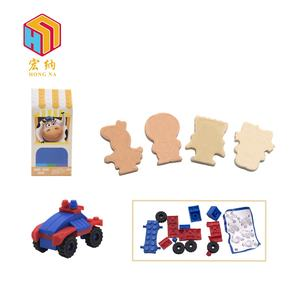 OEM service compression dry milk chewy candy with assembly toys