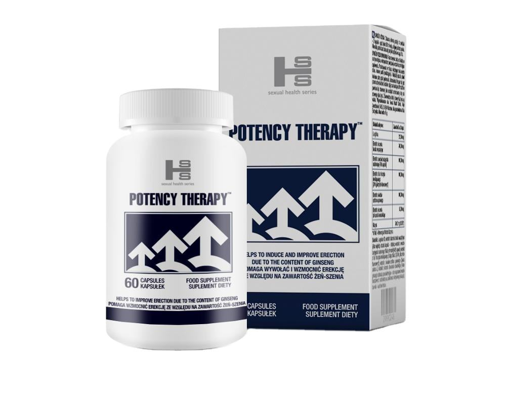 POTENCY THERAPY 60 Pillen Penis Erektion spillen Penis Erektes Produkt Bestseller EU Made Erection Enhancer Pille Potenz Männer