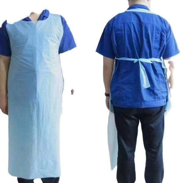 Bulk stock cheap disposable cpe plastic apron sleeveless CE and FDA certified