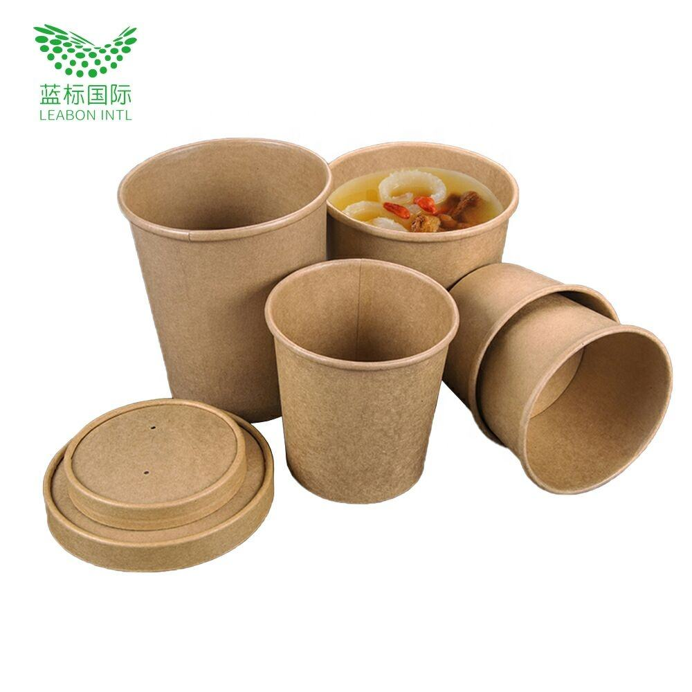 Multiple uses custom design disposable large soup bowls with logo printing
