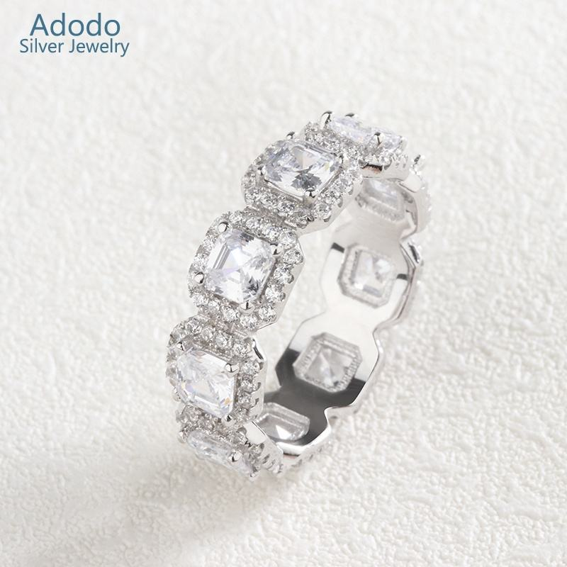 Adodo factory Wholesale wedding rings jewelry women 925 sterling silver rings with Clear CZ
