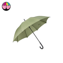 Factory wholesale 23inches 8ribs semi automatic straight umbrella with logo printing
