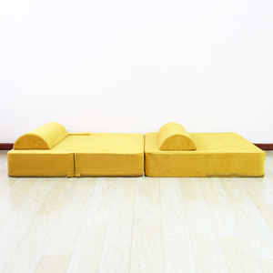 Living Room Kids Furniture  Play Configurable Modular Stitching Toy High Density Foam Filling Couch Cushion Sectional Sofa//