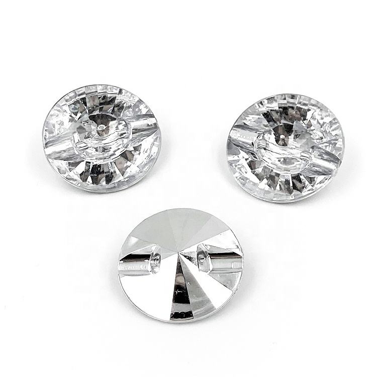 Crystal Round Rhinestone Diamond Acrylic Upholstery Buttons For Sofa