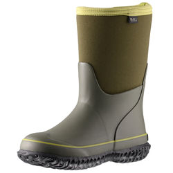 Slip-On Waterproof Kids Rain Rubber Insulated Boots