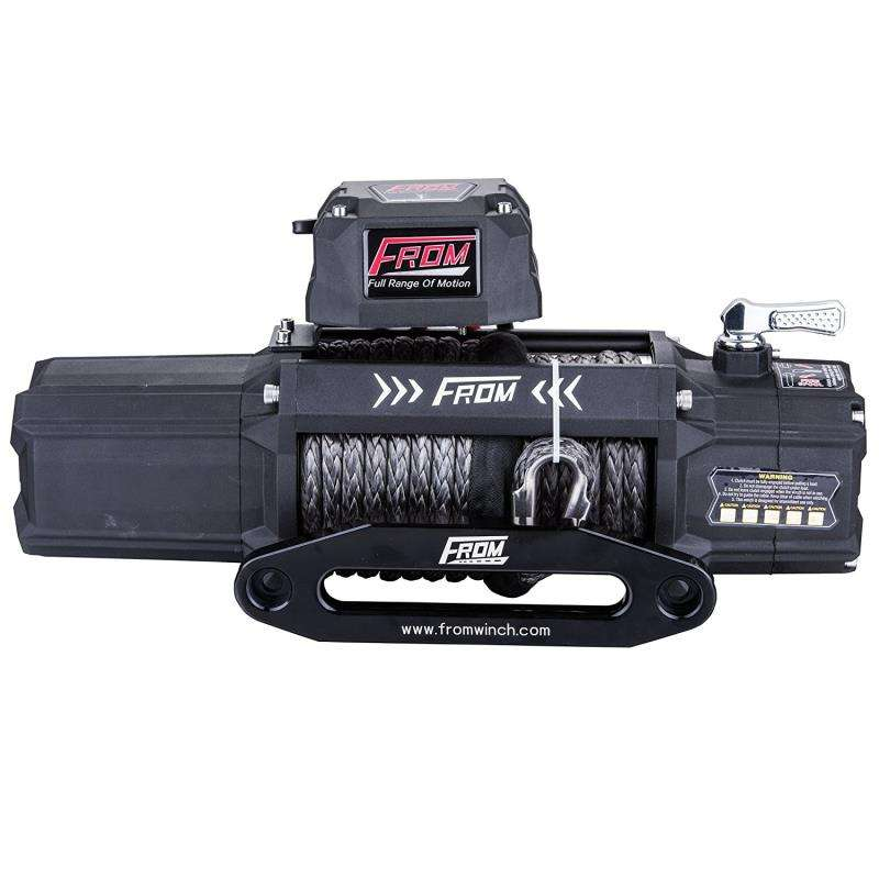 9500lbs pulling auto 4x4 winch 12v 24v offroad electric winch with synthetic rope