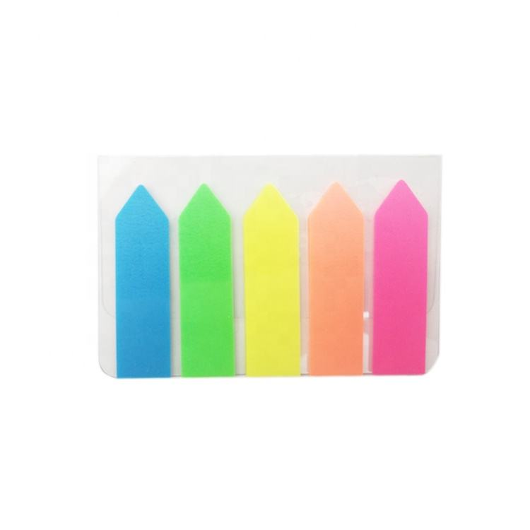 STASUN 5 fluorescerende kleur Pijl Plastic 125 vellen HUISDIER film index sticky note book mark