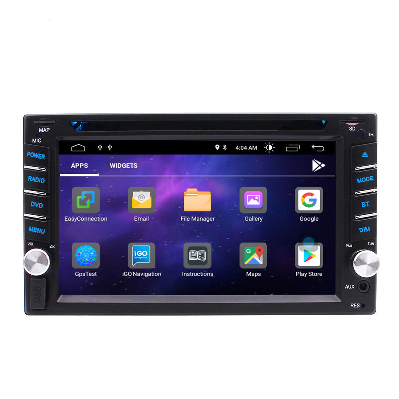 Quad-core Android 10.0 GPS Car Radio Stereo Double din 6.2inch GPS Multi-Touch Screen DVD Player1080P Video Mirror Link Wifi