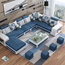 High Quality L Shape Fabric Corner Furniture 12 Seaters Sectionals Loveseats Living Room Sofas