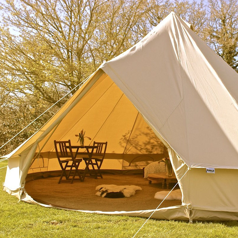 Waterproof glamping luxury tent Canvas glamping bell tent