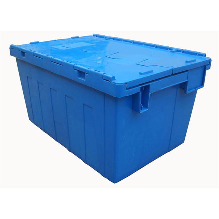 2019 new design pp bestable storage box large storage space plastic crate with lid