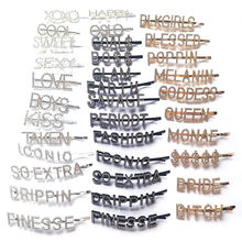 FREE CUSTOM hair clip gold black silver word hair pin alphabet crystal rhinestone paved letter hair clips