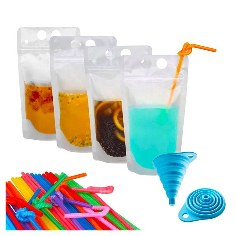 Various Sizes Packaging Bag For Food Beverage Jelly Foil Mylar Stand up Liquid Spout Bags