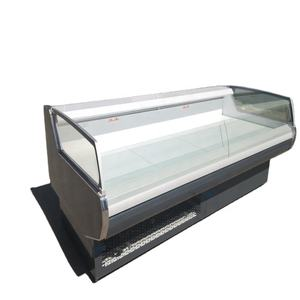 Supermarket fresh meat cold food butchery cooling displays countertop refrigerators freezer