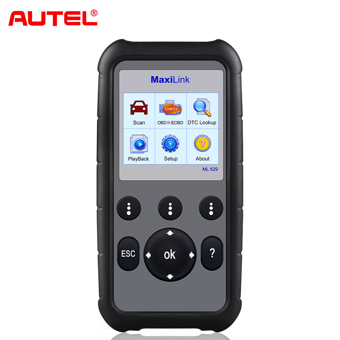 Autel MaxiLink ML629 OBD2 Scanner Code Reader ABS/SRS Multi Languages Car Diagnostic Tool, Turns off Engine Light (MIL) ABS/SRS