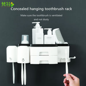 Wholesale toothbrush holder toothpaste dispenser tooth brush holder toothbrush